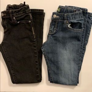 2 OLD NAVY girl skinny + super skinny jeans. Sz 10